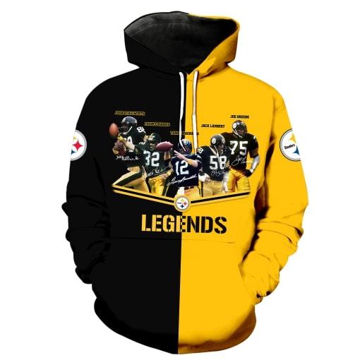 Pittsburgh steelers legends all over print hoodie - original