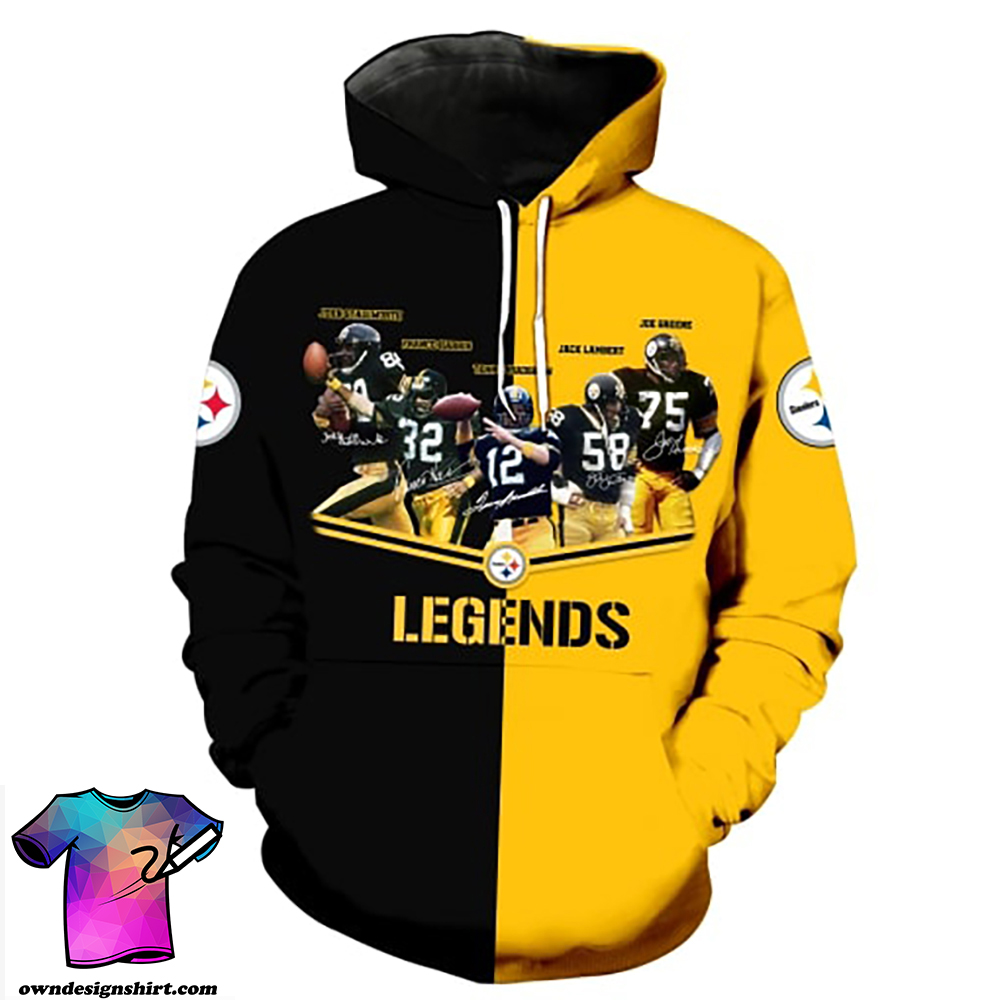 Pittsburgh steelers legends all over print hoodie