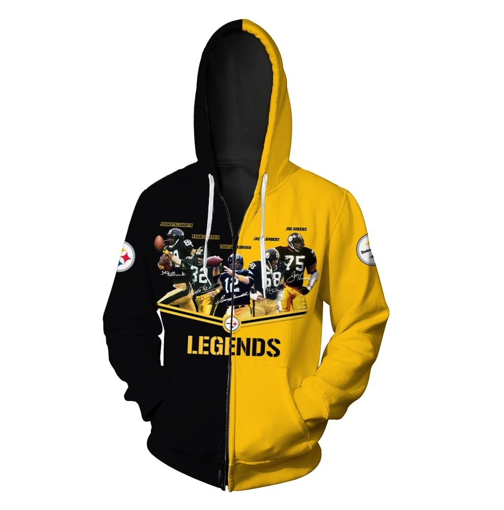 Pittsburgh steelers legends all over print zip hoodie