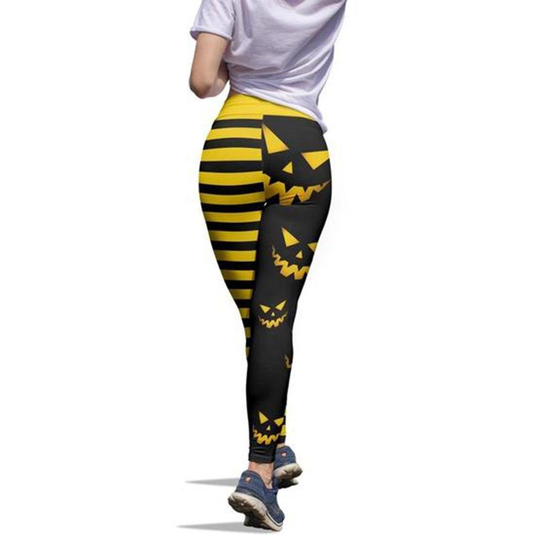Pumpkin hallowstripes high waist legging yellow