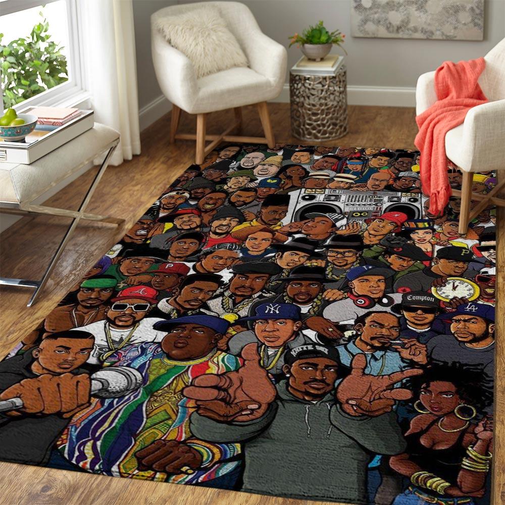Rap gods eminem dr dre 2-pac 50 cent snoop dogg ice cube rug - large