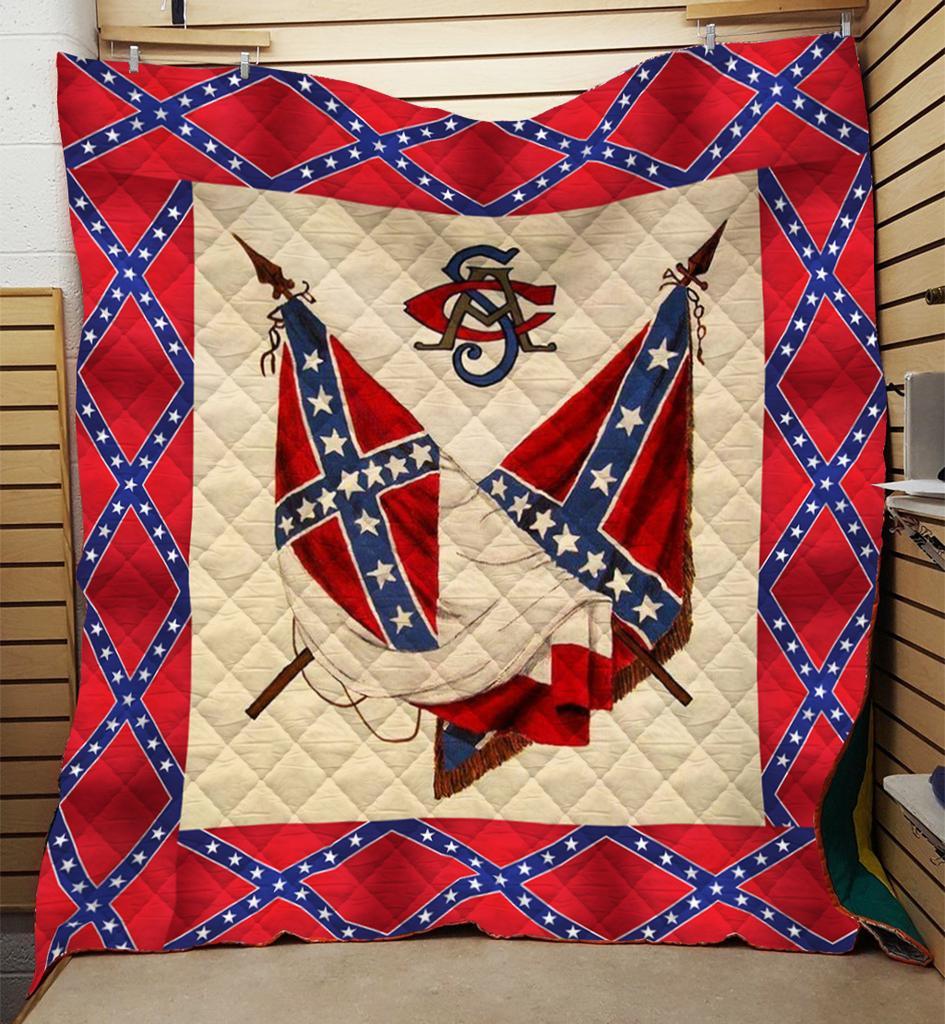 Redneck confederate flag 3d blanket - king