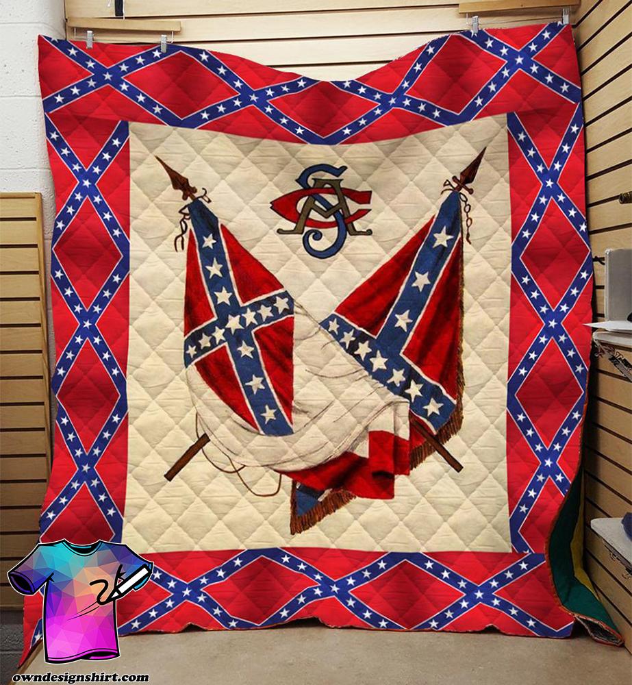 Redneck confederate flag 3d blanket