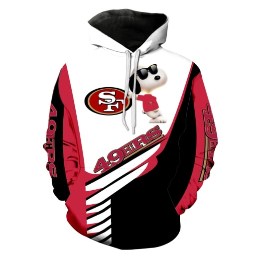 San francisco 49ers snoopy 3d hoodie - original