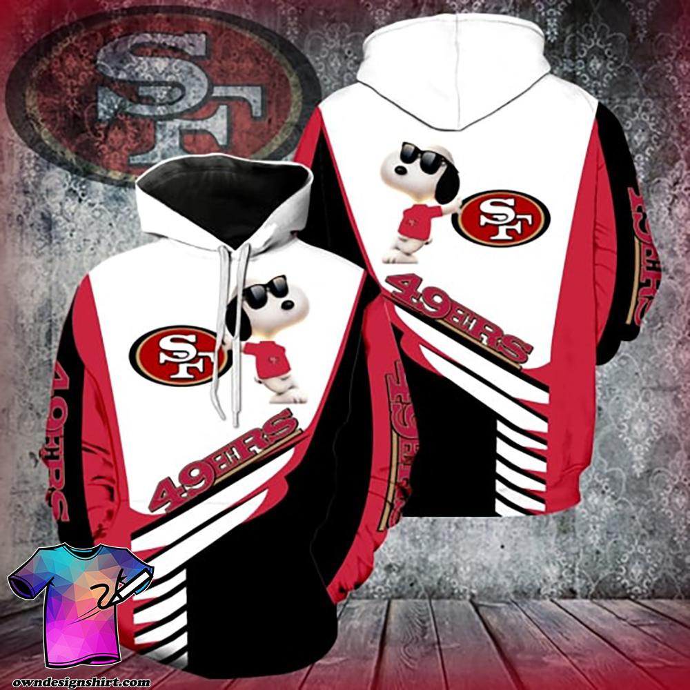 San francisco 49ers snoopy 3d hoodie