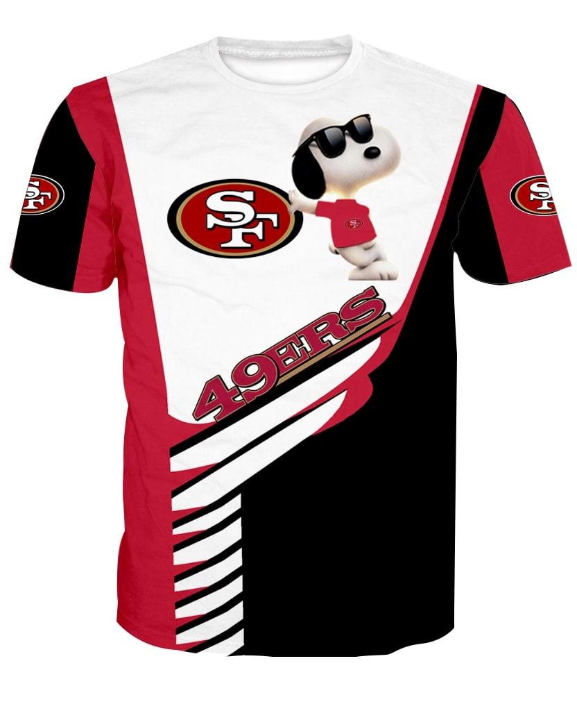 San francisco 49ers snoopy 3d tshirt