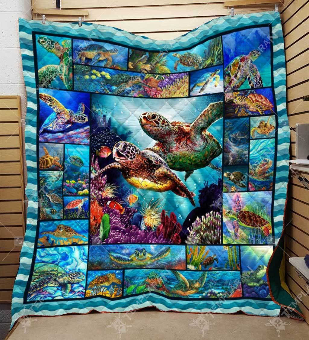 Sea turtle blanket - king