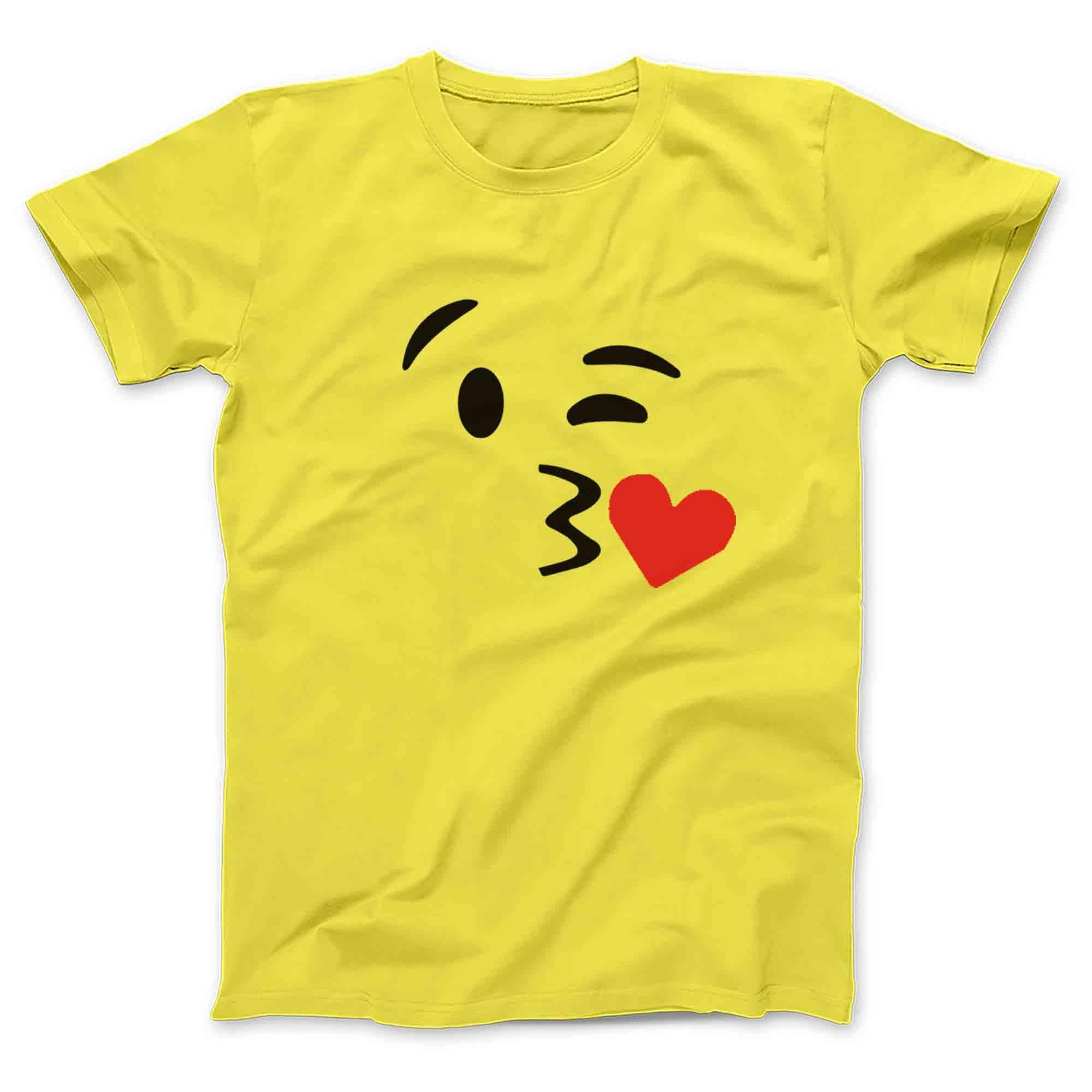 Smiley faces wink heart emoji - size l