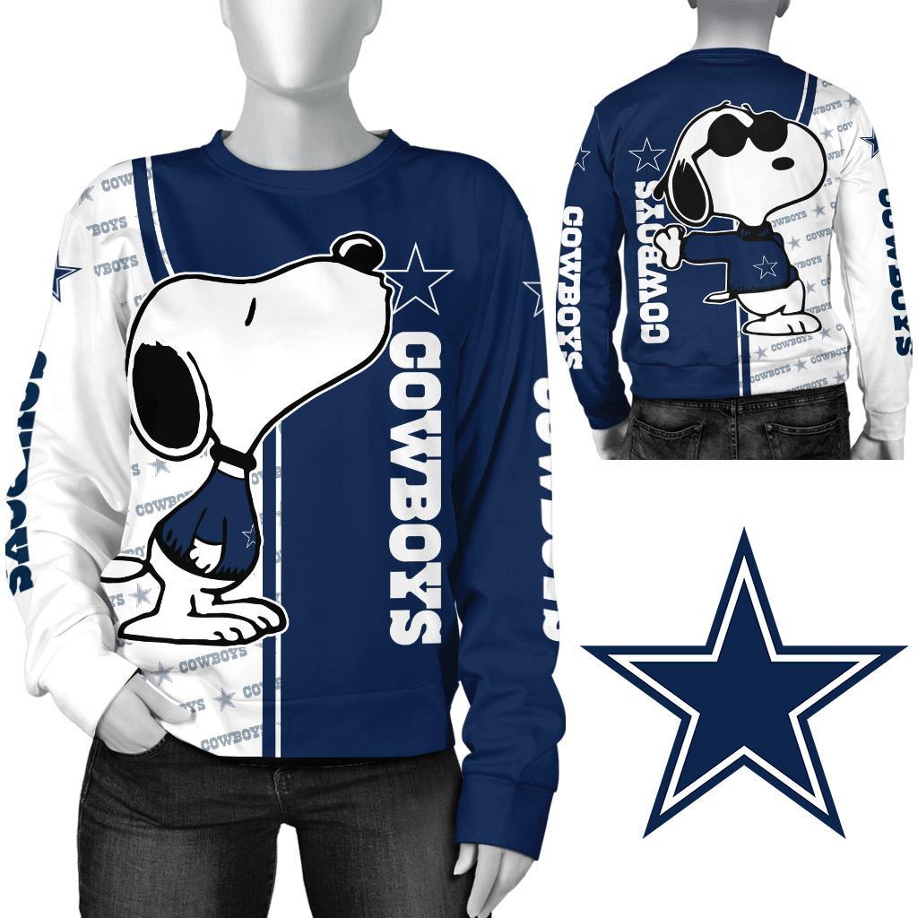 Snoopy dallas cowboys 3d sweatshirt