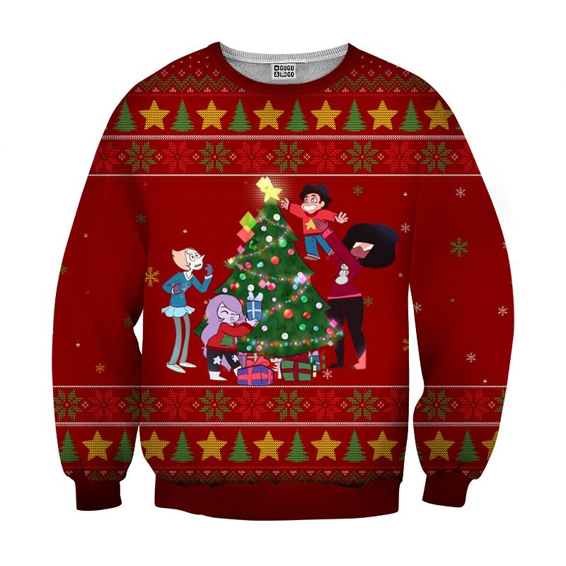 Steven universe the movie christmas 3d ugly sweater - red