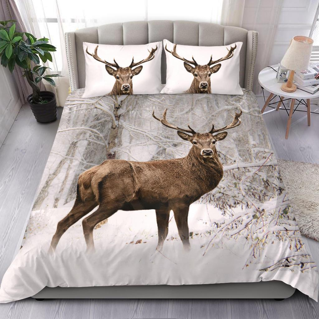 The deer snow bedding set - single