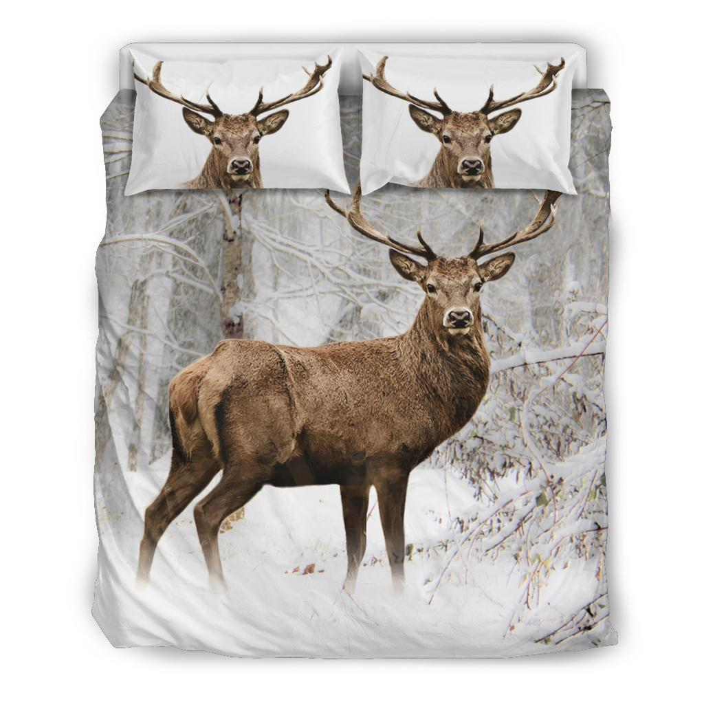 The deer snow bedding set - twin