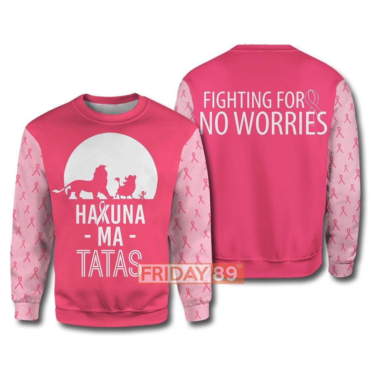 The lion king hakuna ma tatas breast cancer awareness 3d sweater