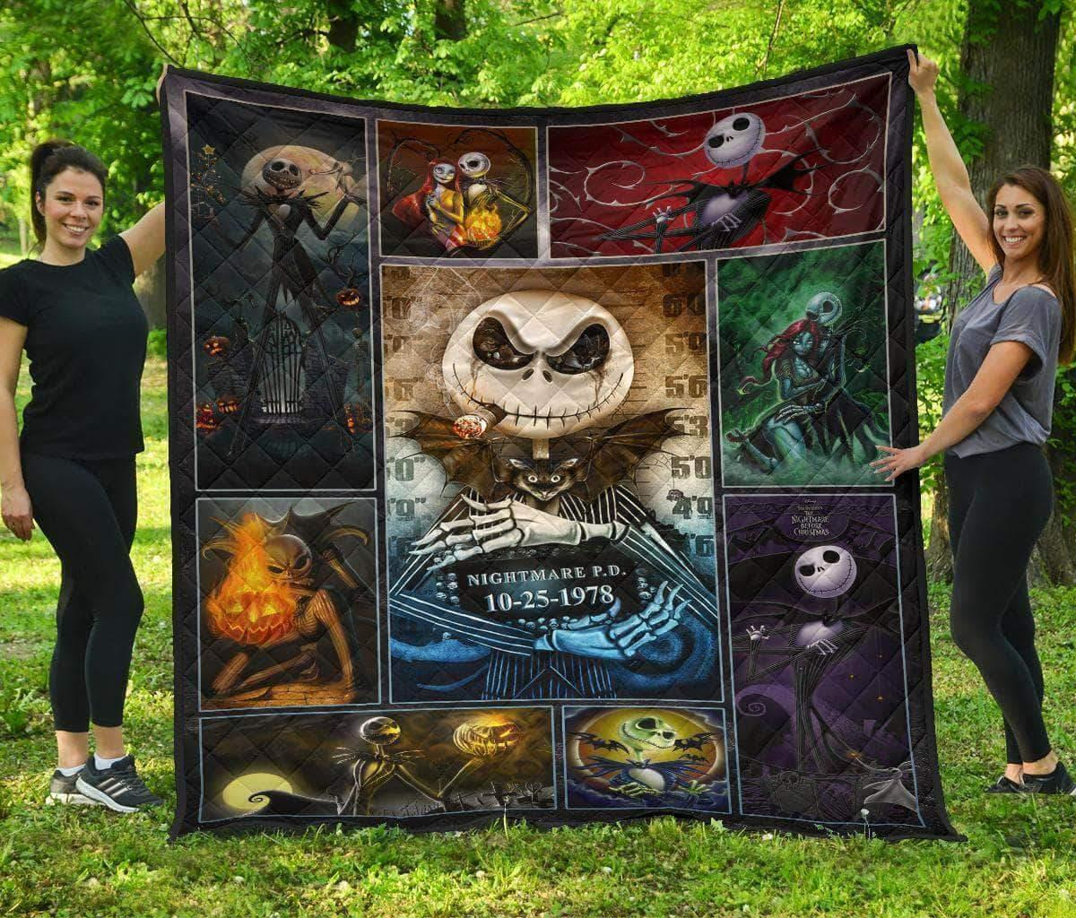 The nightmare before christmas jack skellington quilt - twin