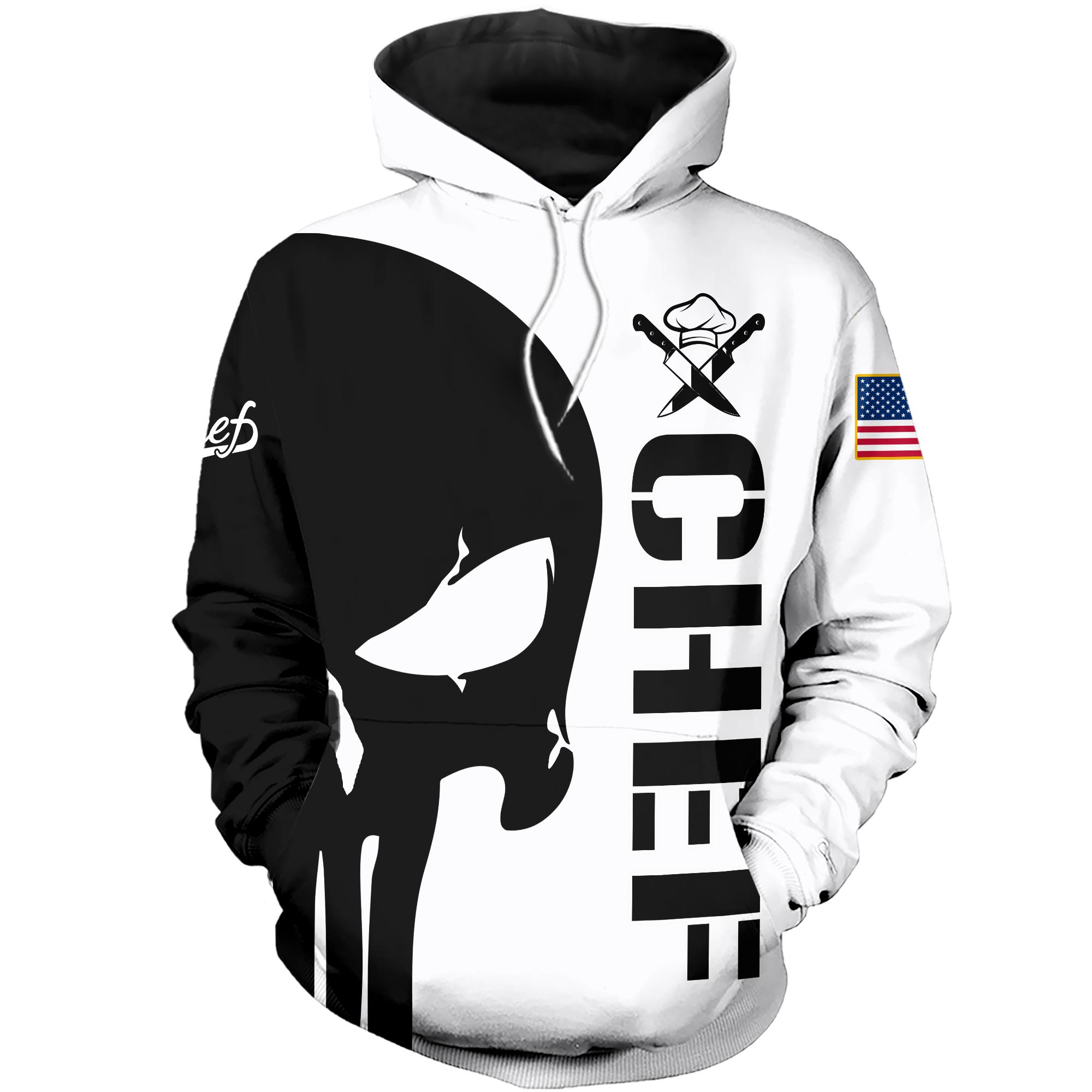 The punisher chef all over print hoodie - 1