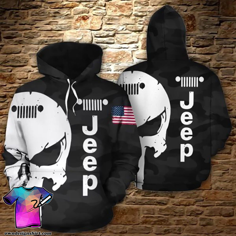 The punisher jeep all over print hoodie