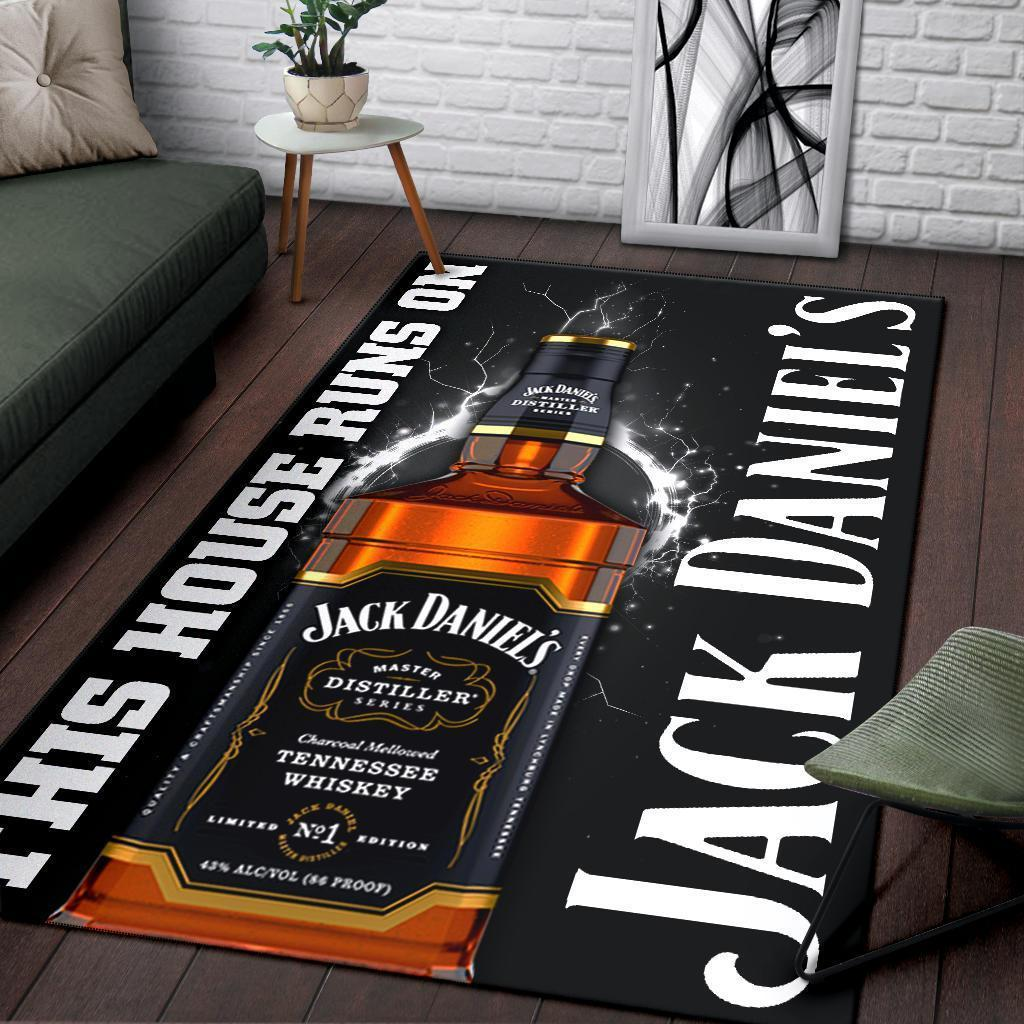This house runs on jack daniel's rug 1