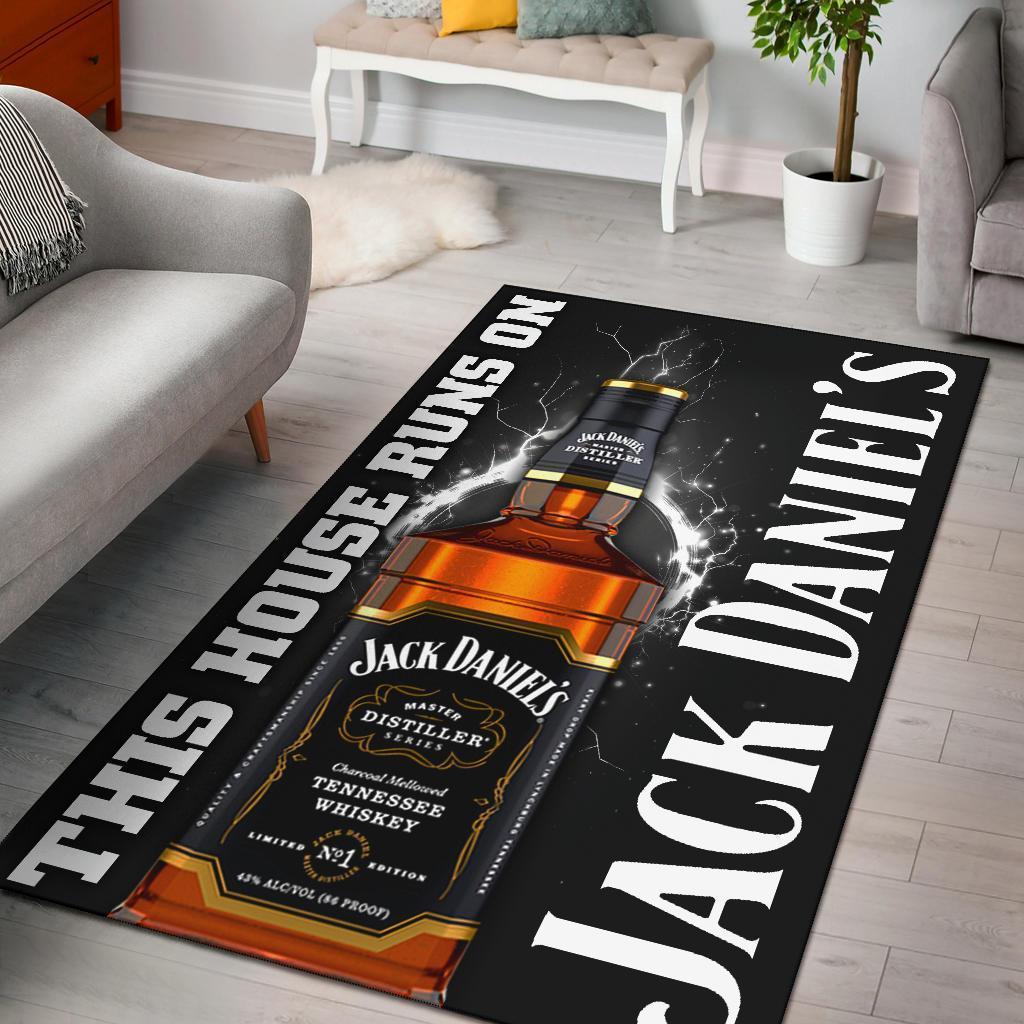 This house runs on jack daniel's rug 4