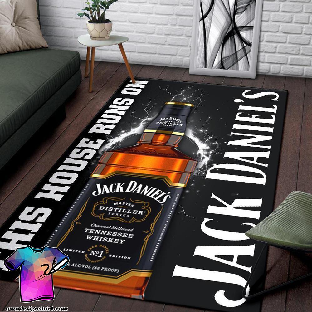 This house runs on jack daniel's rug