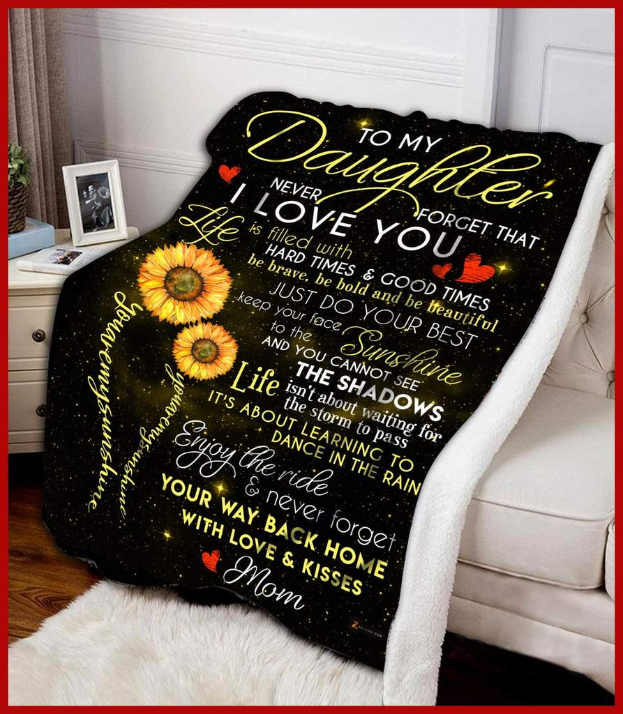 To my daughter you are my sunshine blanket 2
