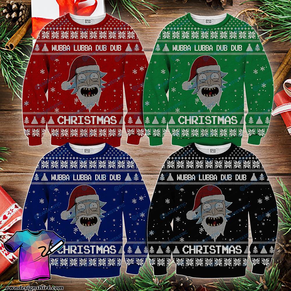 Wubba lubba dub dub joker rick and morty ugly sweater - maria