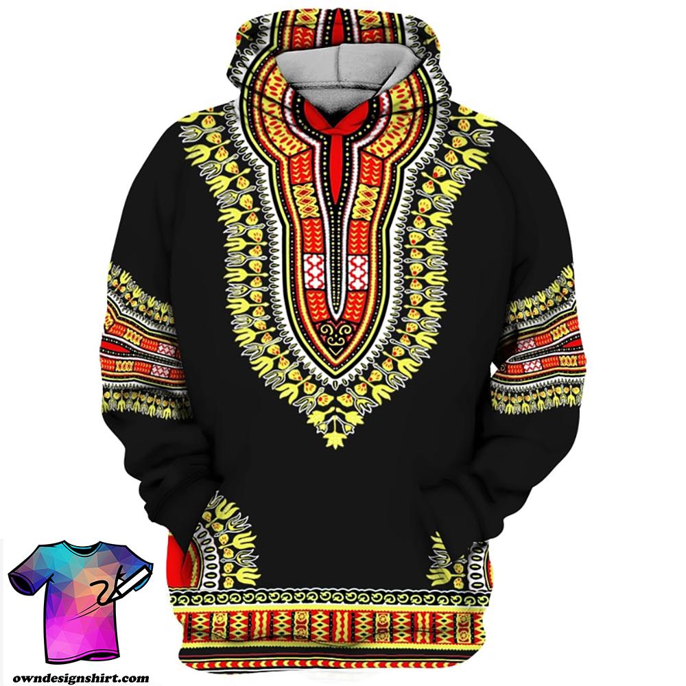 African dashiki all over print hoodie