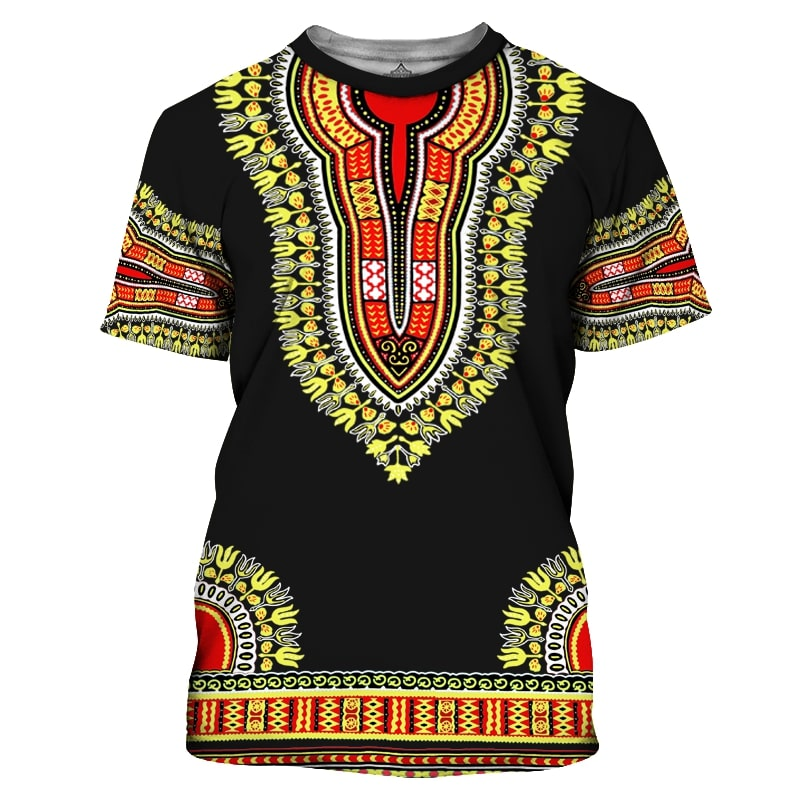 African dashiki all over print tshirt