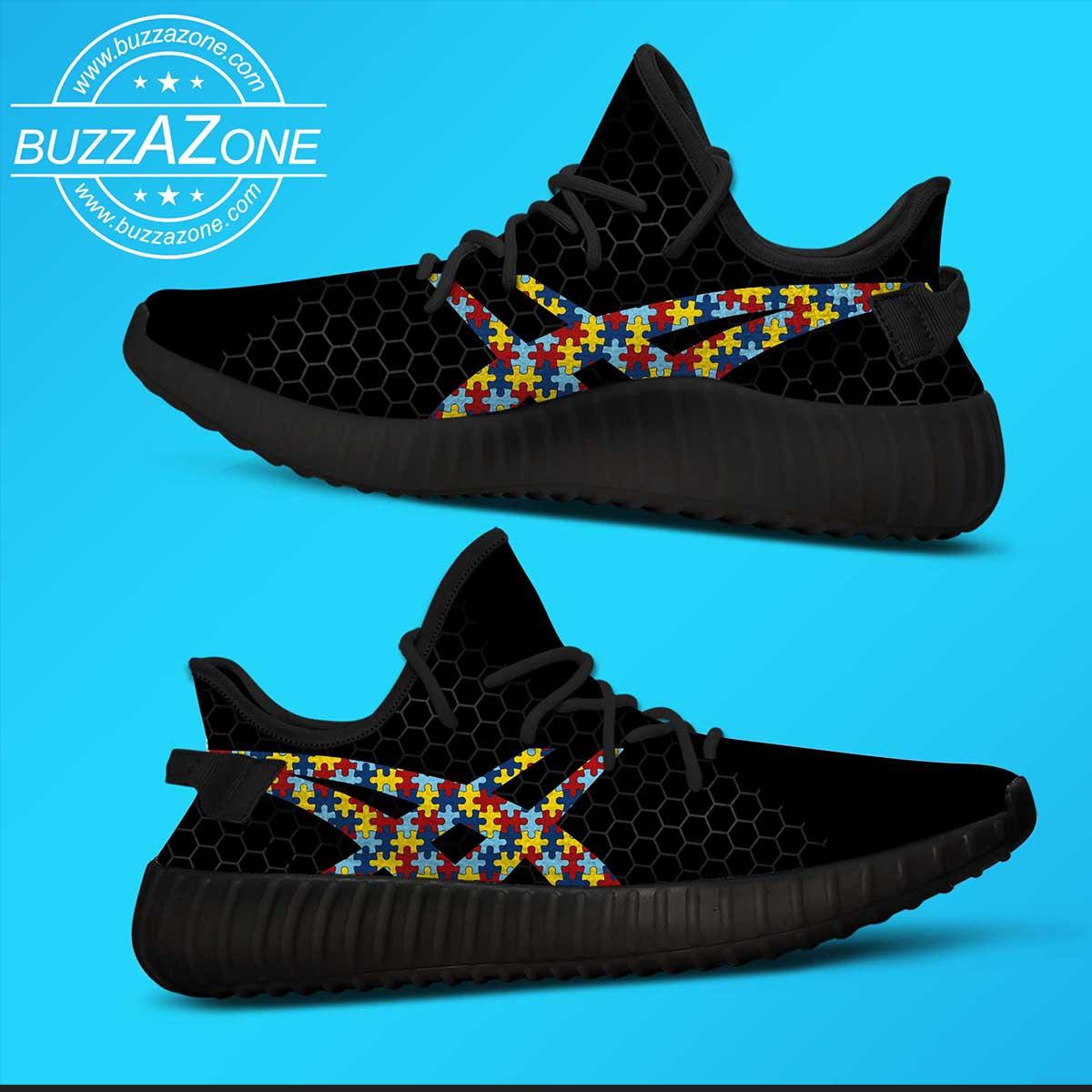 Autism awareness custom yeezy sneakers 3