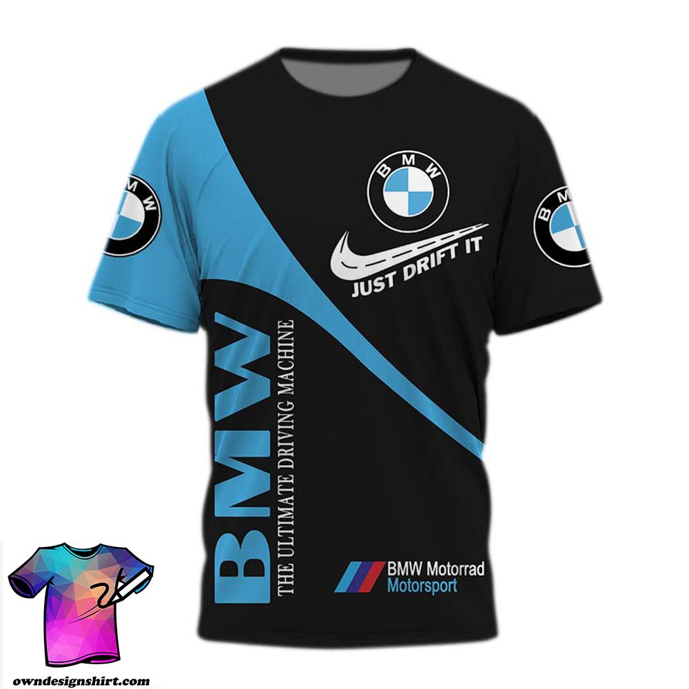 BMW just drift it nike all over print shirt