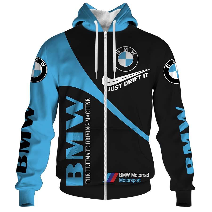 BMW just drift it nike all over print zip hoodie