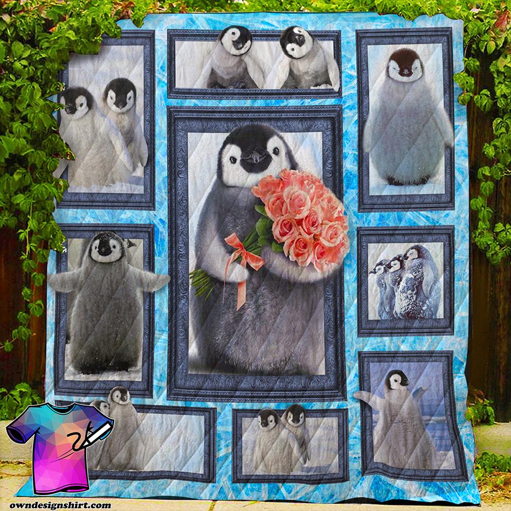 Baby penguin quilt