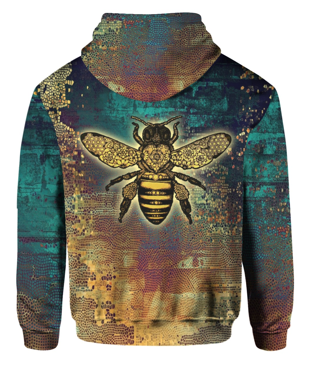 Bee kind all over print hoodie 2