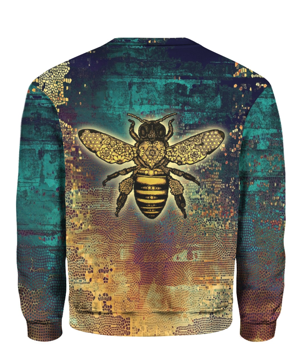 Bee kind all over print sweatshirt 1
