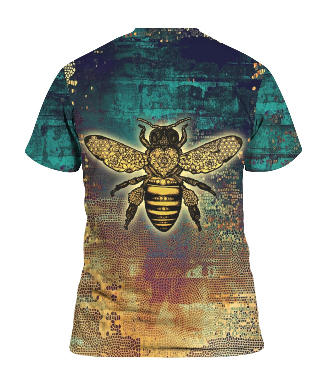 Bee kind all over print tshirt 1
