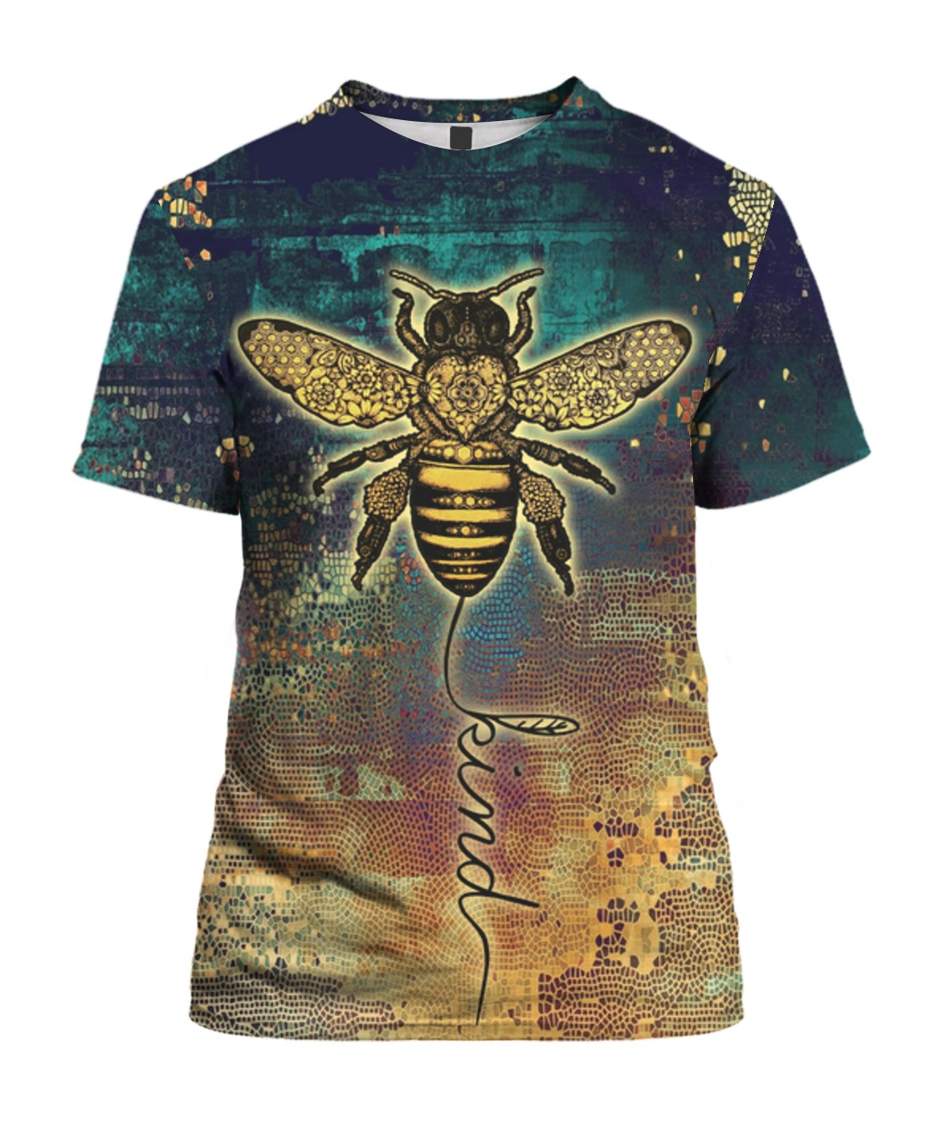 Bee kind all over print tshirt