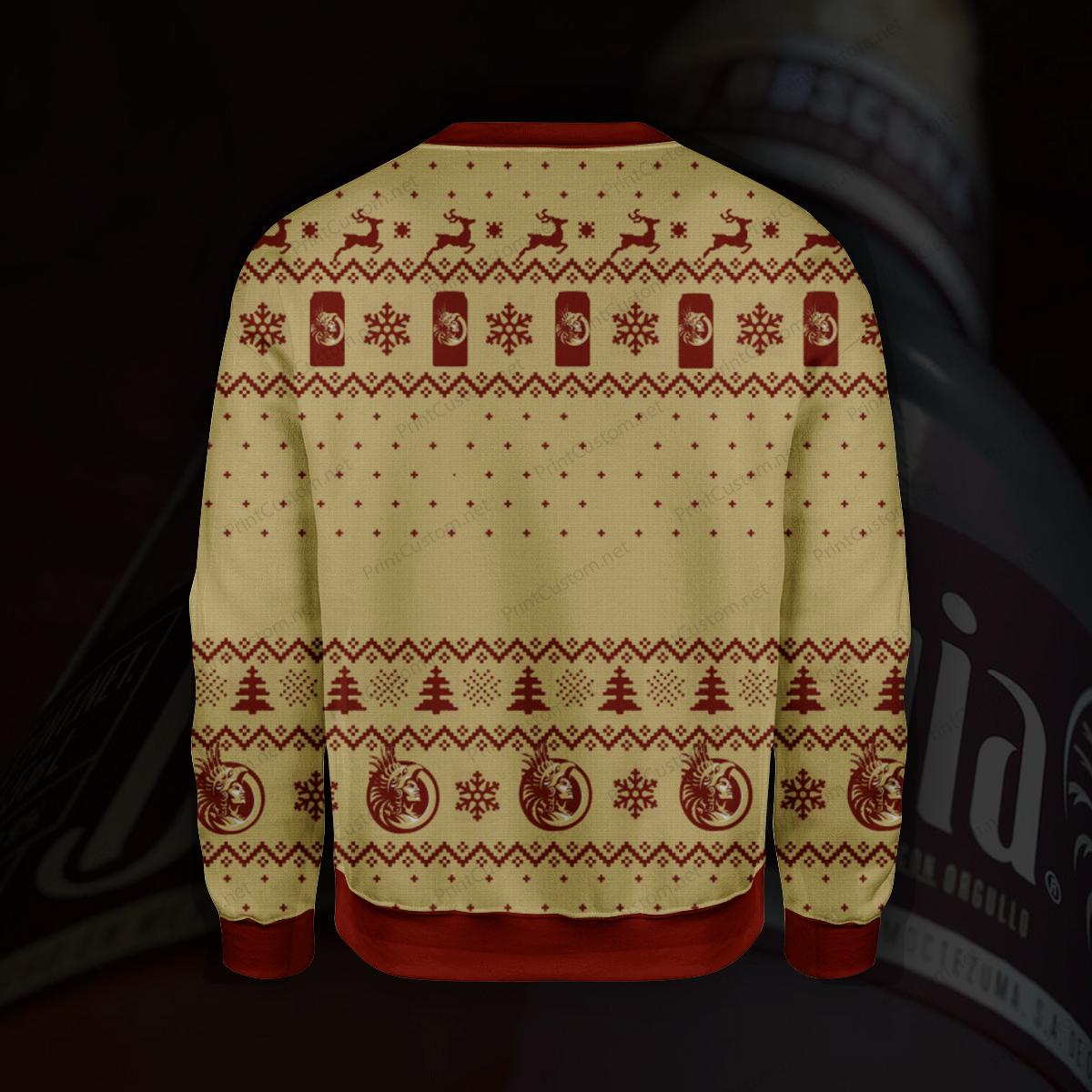 Bohemia beer full printing ugly christmas sweater 2