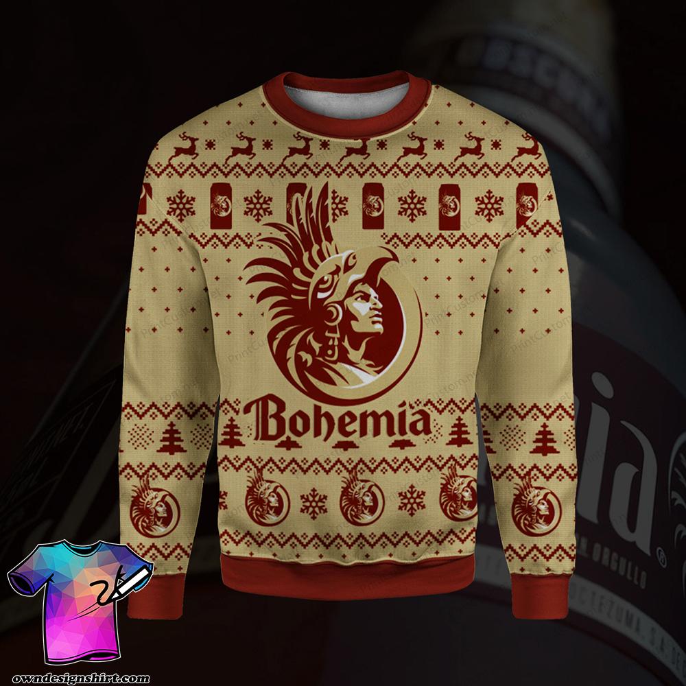 Bohemia beer full printing ugly christmas sweater