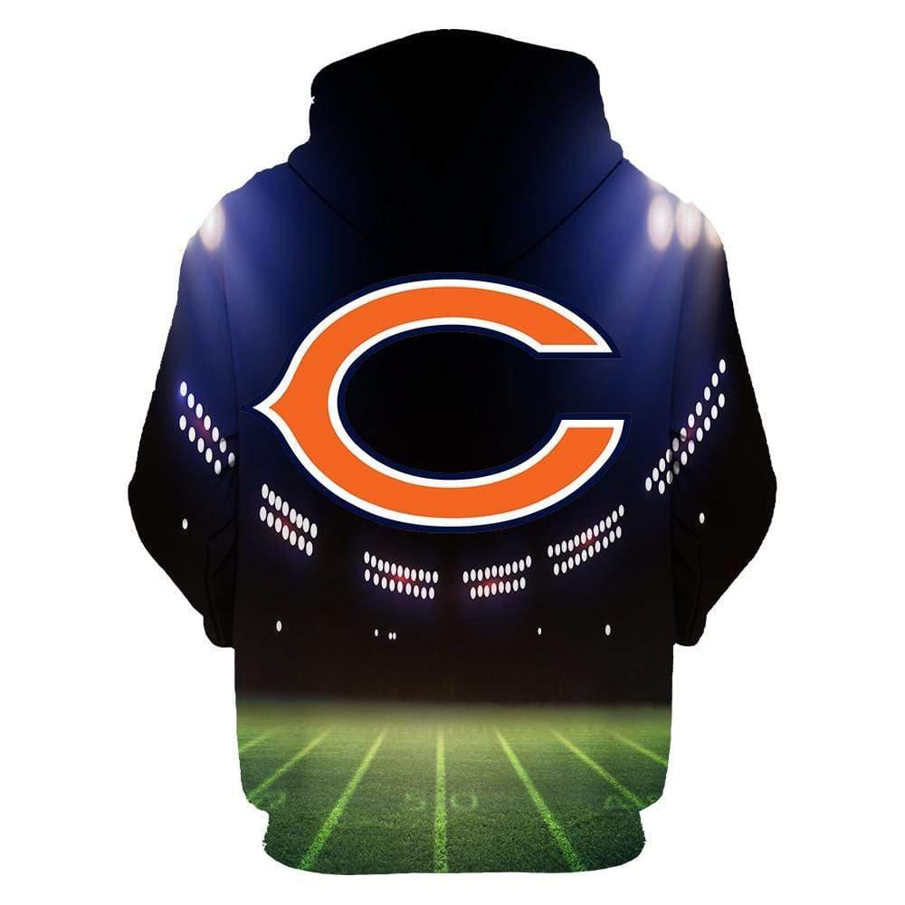 Chicago bears full printing hoodie 2