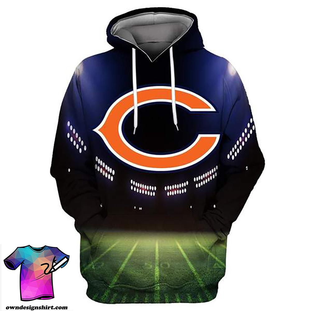 Chicago bears full printing hoodie