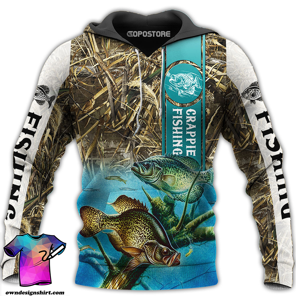 Crappie fishing all over printed shirt