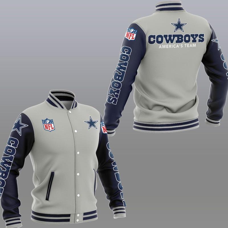 Dallas cowboys america's team 3d jacket - sportgrey