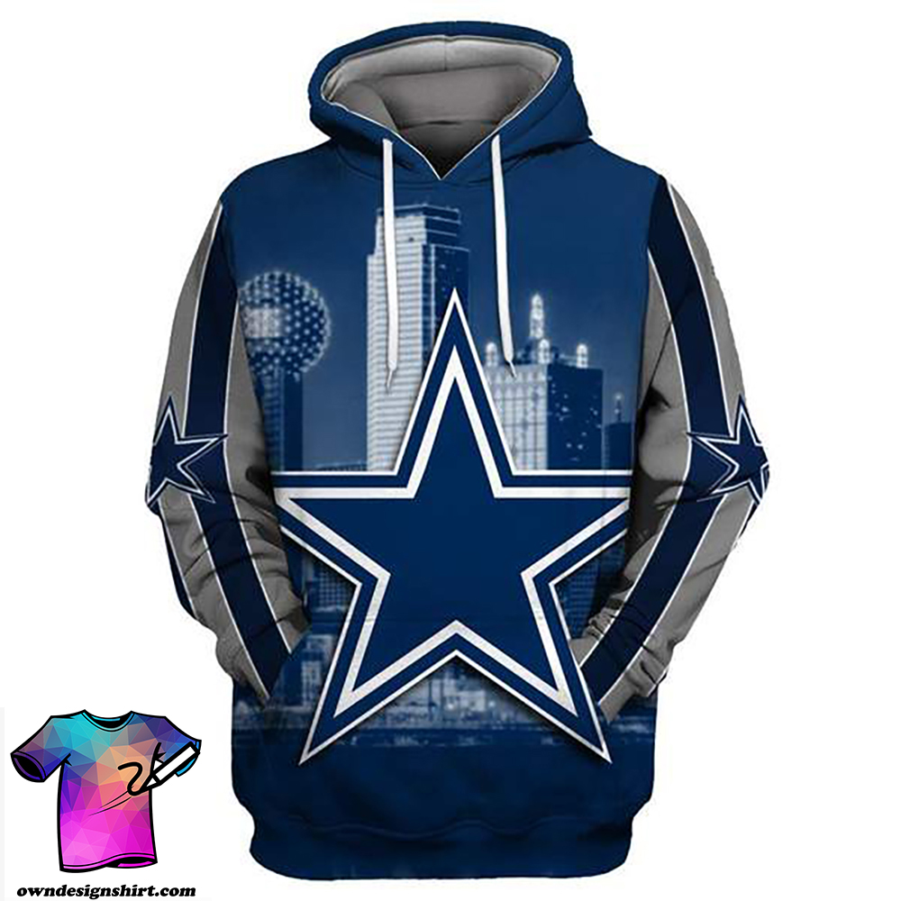 Dallas cowboys full printing hoodie