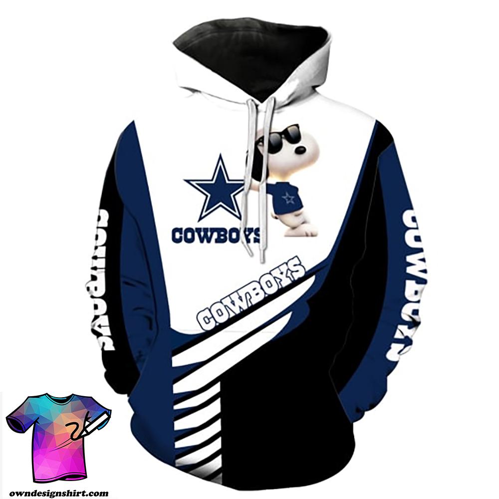 Dallas cowboys snoopy full printing hoodie