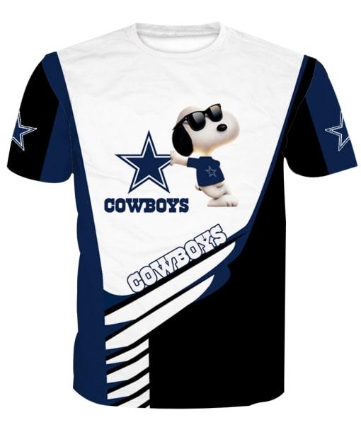 Dallas cowboys snoopy full printing tshirt