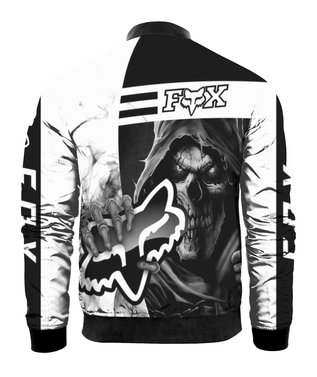 Death skull holds logo fox racing full printing bomber 1