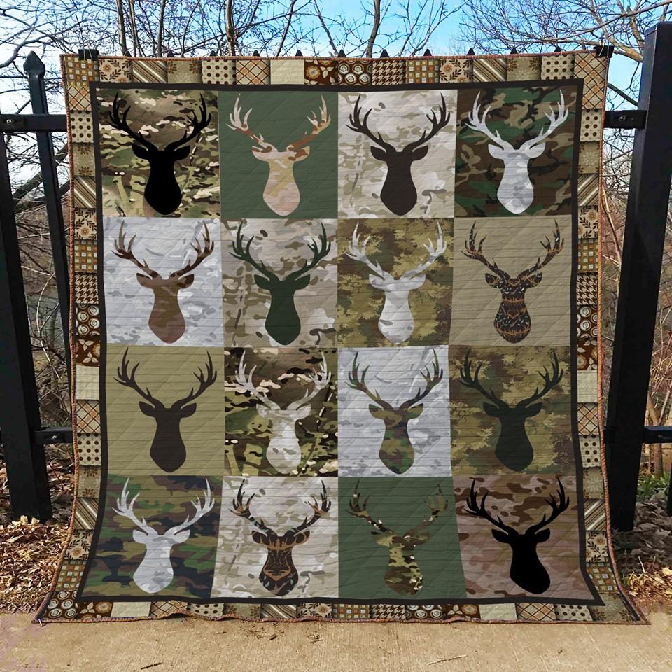 Deer hunting camo quilt 1