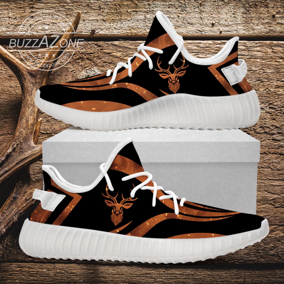 Deer hunting custom yeezy sneakers 3