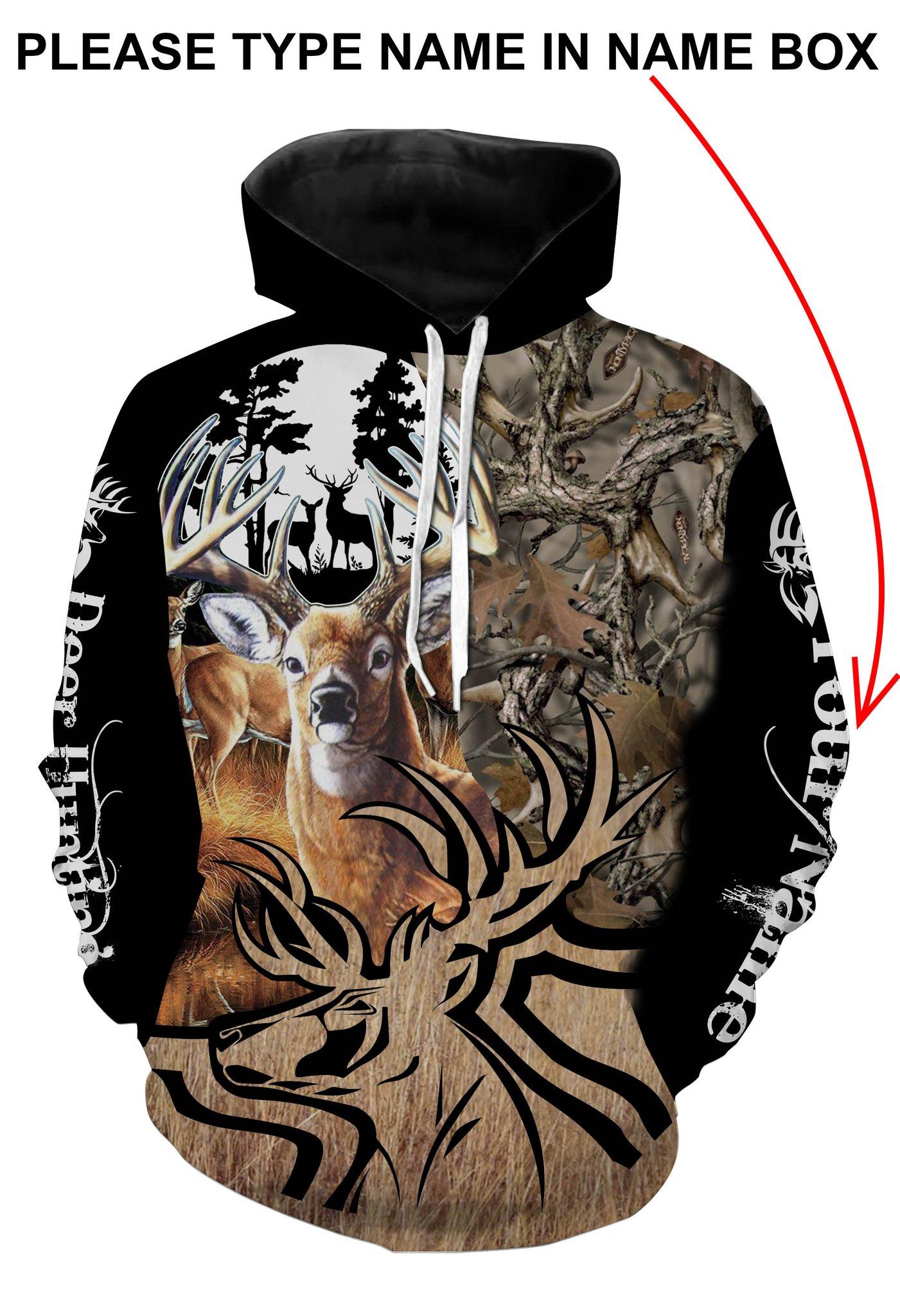 Deer hunting personalized full printing hoodie 1