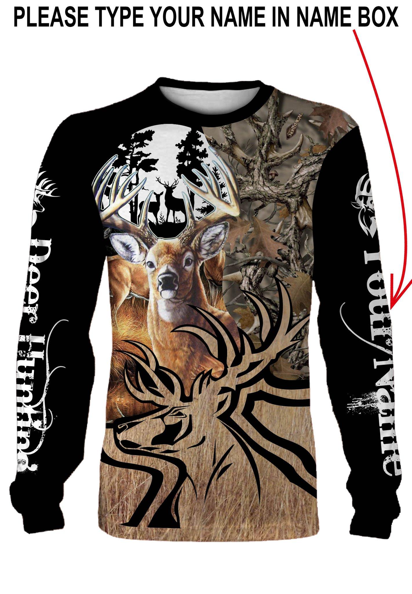 Deer hunting personalized full printing sweatshirt