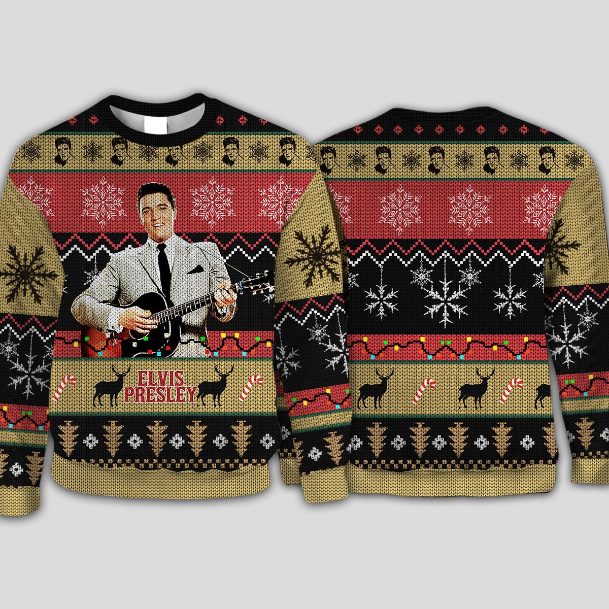 Elvis presley knitting pattern all over print sweatshirt
